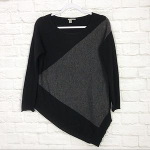 Halogen Wool Cashmere Asymmetrical Scoop Sweater S